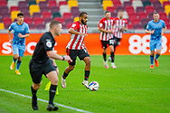 Brentford forward Bryan Mbeumo (19) attacks the right wing during the EFL Sky Bet Championship match between Brentford and Coventry City at Brentford Community Stadium, Brentford, England on 17 October 2020.
