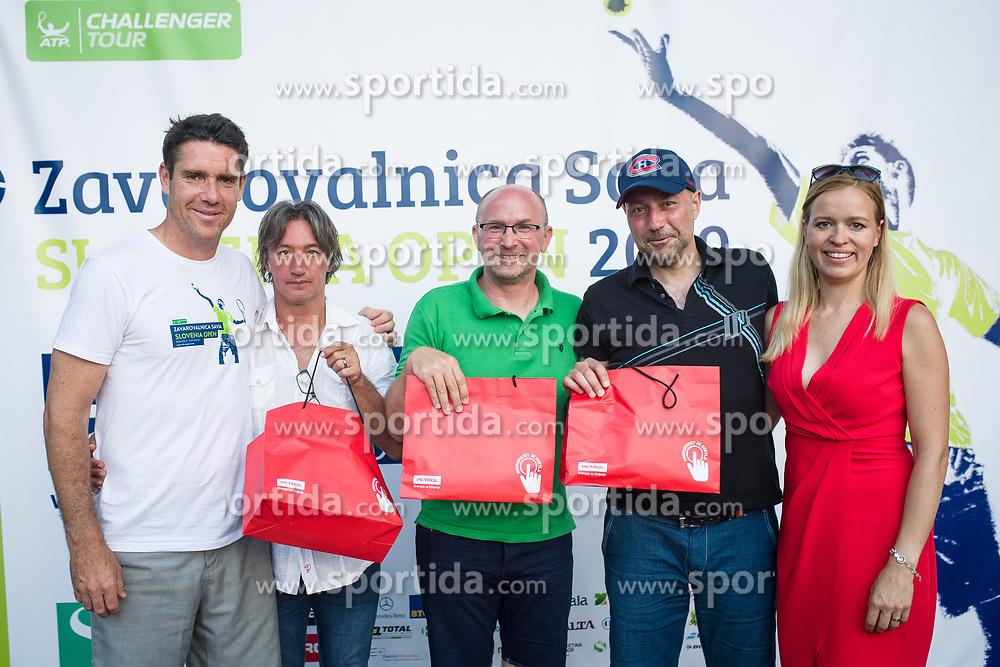 Matej Stakul, Dnevnik, Anze Baselj, TV Slovenija, Drzavno prvenstvo novinarjev v tenisu 2019, on June 12, 2019 in Tivoli, Ljubljana, Slovenia. Photo by Saso Pahic Szabo / Sportida