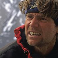 ALEX LOWE during Great Sail Peak expedition, Baffin Island, Nunavut, Canada.
