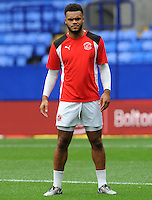 Fleetwood Town's Aaron Holloway during the pre-match warm-up <br /> <br /> Photographer Ian Cook/CameraSport<br /> <br /> Football - The EFL Sky Bet League One - Bolton Wanderers v Fleetwood Town - Saturday 20 August 2016 - Macron Stadium - Bolton<br /> <br /> World Copyright © 2016 CameraSport. All rights reserved. 43 Linden Ave. Countesthorpe. Leicester. England. LE8 5PG - Tel: +44 (0) 116 277 4147 - admin@camerasport.com - www.camerasport.com