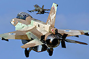 Israeli Air Force (IAF) F-16D Fighter jet at take off