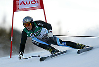 Alpint: Stein Kristian Strand of Norway competing in the Super G race at Hahnenkamm, Kitzbühel, Austria. Strand finished 36th. 18.01.2002.<br />Foto: David Rawcliffe, Digitalsport