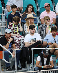 March 23, 2019 - Miami Gardens, Florida, United States Of America - MIAMI GARDENS, FLORIDA - MARCH 23:  Anna wintour, Blaine Trump day 6 of the Miami Open Presented by Itau at Hard Rock Stadium on Saturday on March 23, 2019 in Miami Gardens, Florida..People: Anna wintour, Blaine Trump. (Credit Image: © SMG via ZUMA Wire)