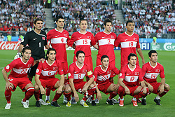 Team Turkey before the UEFA EURO 2008 Quarter-Final soccer match between Croatia and Turkey at Ernst-Happel Stadium, on June 20,2008, in Wien, Austria.  Won of Turkey after penalty shots. (Photo by Vid Ponikvar / Sportal Images)