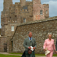 Castle Mey Caithness 4th August 2007  His Royal Highness The Prince Chalres Duke of Rothesay  HRH The Duchess of Rothesay  during the opening of the news vistors centre and tea room at Castle Mey..