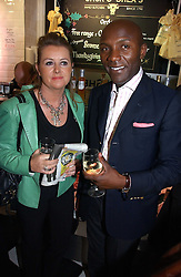 FRANCES GEOGHEGAN and DEREK LAUD at the opening of Jack O'Shea's butcher, Montpelier Street, London on 9th November 2006.  <br /><br /><br />NON EXCLUSIVE - WORLD RIGHTS