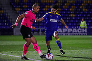 AFC Wimbledon defender Will Nightingale (5) battles for possession during the EFL Sky Bet League 1 match between AFC Wimbledon and Peterborough United at Plough Lane, London, United Kingdom on 2 December 2020.