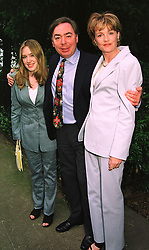 LORD & LADY LLOYD-WEBBER and his daughter IMOGEN LLOYD WEBBER, at a party in London on 25th June 1998.MIT 174