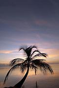 Sunrise on tropical beach, Carribean Sea, Placencia, Belize