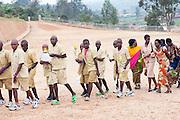 Local people visiting a Rwandan genocide memorial on the outskirts of Kigali, Rwanda