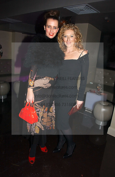 Left to right, comedian PAM ANN and KELLY HOPPEN at a party to celebrate the opening of Kitts nightclub, 7-12 Sloane Square, London on 7th December 2006.<br /><br />NON EXCLUSIVE - WORLD RIGHTS