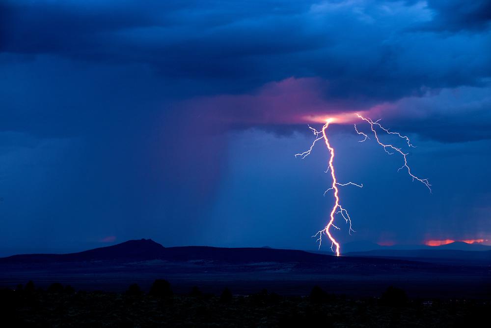 Summer Monsoons across the Taos Plateau, Llano Quemado, New Mexico