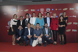 October 18, 2016 - Madrid, Spain - Eva Gonzalez, Jordi Cruz, Samantha Vallejo-Nájera, Pepe Rodríguez in the Presentation of the TV show Celebrity MasterChef in Madrid Spain  on 18 October 2016. (Credit Image: © Oscar Gonzalez/NurPhoto via ZUMA Press)