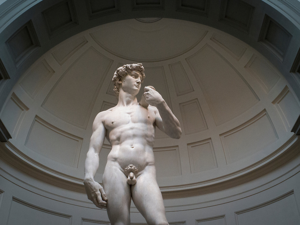 David is a masterpiece of Renaissance sculpture created in marble by Michelangelo in the Galleria dell'Accademia