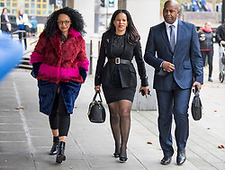 © Licensed to London News Pictures. 11/11/2020. London, UK. Labour MP CLAUDIA WEBBE MP (centre) arrives at Westminster Magistrates Court in London where she is charged with harassment. Webbe, who is the MP for Leicester East, is accused of harassing a woman  Photo credit: Ben Cawthra/LNP