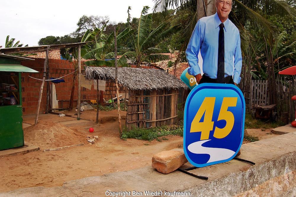 2010 Electoral campaign roadside poster for Teotonio Vilela Filho PSDB running for Govenor of Alagoas