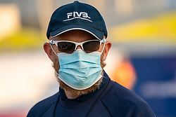Referee with mouth mask  in action during CEV Continental Cup Final Day 1 - Women on June 23, 2021 in The Hague
