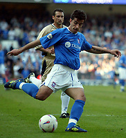 Photographer: Scott Heavey<br />Ipswich Town V Portsmouth. 18/04/03.<br />Pablo Counago makes it 3-0 to Ipswich during this Nationwide Division one match at Portland Road.
