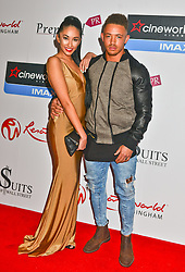 Talitha Minnis and Ashley Caine seen at the VIP red carpet screening of Fifty Shades of Grey, CineWorld, Broard Street Birmingham. EXPA Pictures © 2015, PhotoCredit: EXPA/ Photoshot/ Jules Annan<br /> <br /> *****ATTENTION - for AUT, SLO, CRO, SRB, BIH, MAZ only*****