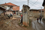 MACEDONIA, January 2016. Village of Kuceviste north of Skopje. The village is a typical Macedonian village, Albanian population was hardly ever present and if so was mostly expelled during the conflict in 2001. (Photo by Gregor Zielke)