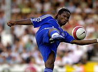 Photo: Daniel Hambury.<br />Fulham v Chelsea. The Barclays Premiership. 23/09/2006.<br />Chelsea's Didier Drogba shoots for goal.