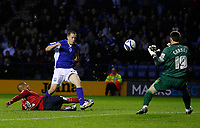 Photo: Steve Bond/Richard Lane Photography. Leicester City v West Bromwich Albion. Coca Cola Championship. 07/11/2009. Matty Fryatt goes close
