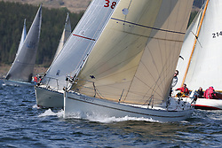 The Clyde Cruising Club's Scottish Series held on Loch Fyne by Tarbert. Day 2 racing in a perfect southerly<br /> <br /> 3841C, Ubiquity, Henry Reid, Fairlie Yacht Club, Moody 36
