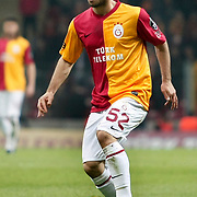 Galatasaray's Emre Colak during their Turkish Super League soccer match Galatasaray between Manisaspor at the TT Arena at Seyrantepe in Istanbul Turkey on Wednesday, 21 December 2011. Photo by TURKPIX