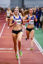 Boston University David Hemery Valentine <br /> Indoor Track & Field Danielle Aragon, HOKA One One, wins Mile , HOKA, NJNYTC,