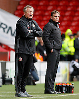 Sheffield United manager Chris Wilder (front) & Bolton Wanderers manager Phil Parkinson look on from the touchline<br /> <br /> Photographer David Shipman/CameraSport<br /> <br /> The EFL Sky Bet League One - Sheffield United v Bolton Wanderers - Saturday 25th February 2017 - Bramall Lane - Sheffield<br /> <br /> World Copyright © 2017 CameraSport. All rights reserved. 43 Linden Ave. Countesthorpe. Leicester. England. LE8 5PG - Tel: +44 (0) 116 277 4147 - admin@camerasport.com - www.camerasport.com
