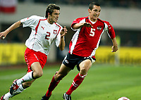 ◊Copyright:<br />GEPA pictures<br />◊Photographer:<br />Mario Kneisl<br />◊Name:<br />Pogatetz<br />◊Rubric:<br />Sport<br />◊Type:<br />Fussball<br />◊Event:<br />OEFB, WM Qualifikation, Laenderspiel, Oesterreich vs Polen, AUT vs POL<br />◊Site:<br />Wien, Austria<br />◊Date:<br />09/10/04<br />◊Description:<br />Marcin Zajac (POL), Emanuel Pogatetz (AUT)<br />◊Archive:<br />DCSKN-091004312<br />◊RegDate:<br />09.10.2004<br />◊Note:<br />8 MB - BK/WU