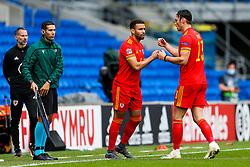Hal Robson-Kanu of Wales comes on for Kieffer Moore - Rogan/JMP - 06/09/2020 - FOOTBALL - Cardiff City Stadium - Cardiff, Wales - Wales v Bulgaria - UEFA Nations League Group B4.