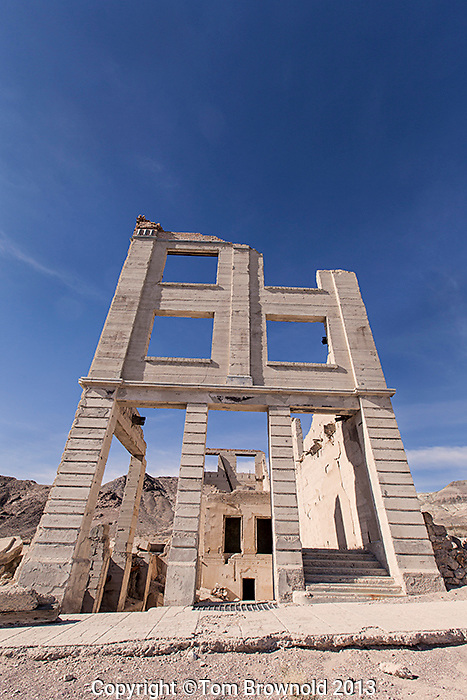 Rhyolite is a ghost town in Nye County, in the U.S. state of Nevada.