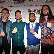 Guest,Oliver Clark , Amir Khan and Blair MacDonald attend World Premiere of Team Khan - Raindance Film Festival 2018 at Vue Cinemas - Piccadilly, London, UK. 29 September 2018.