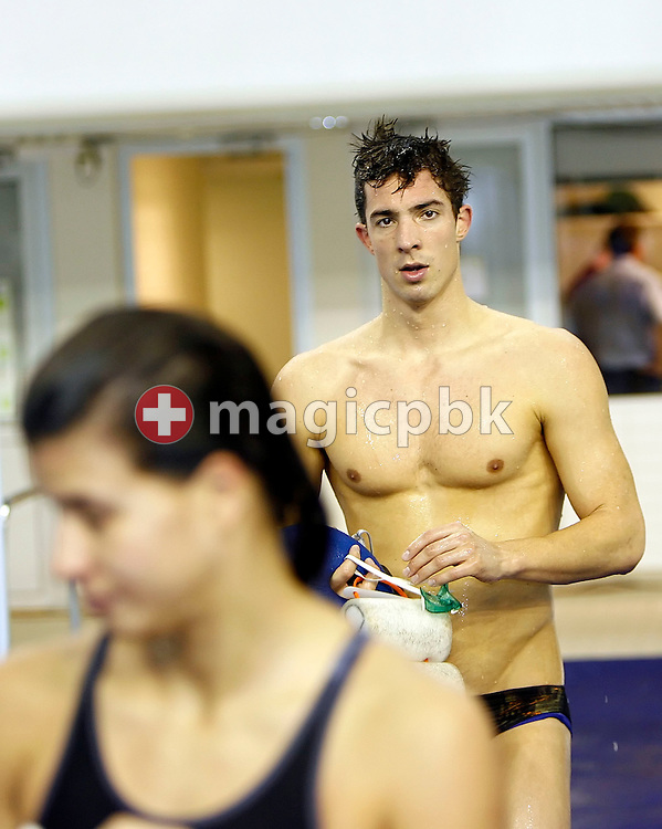 Stephan Bachmann of Switzerland is pictured after a practice session a day before the start of the European Short Course Swimming Championships in Maekelaenrinne Swimming Centre in Helsinki, Finland, Wednesday, December 6, 2006. (Photo by Patrick B. Kraemer / MAGICPBK)