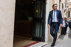 April 18, 2018 - Rome, Italy, Italy - Francesco Bocciai Party Democratic  near Piazza Montecitorio. (Credit Image: © Andrea Ronchini/Pacific Press via ZUMA Wire)