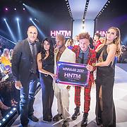 NLD/Amsterdam/20171030 - Holland Next Top Model 2017 finale, Nigel Barker, Anna Nooshin, Jean Paul Paula, Montel van Leijen en Kim Feenstra