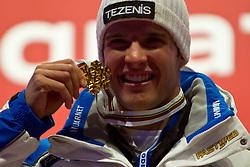 09.02.2011, Kandahar, Garmisch Partenkirchen, GER, FIS Alpin Ski WM 2011, GAP, Herren Super G, , Medal Ceremony, im Bild [13:49:07] EXPA Pictures Bildredaktion: Weltmeister Christof Innerhofer (ITA) // Gold Medal and World Champion Christof Innerhofer (ITA) during Men Super G, Fis Alpine Ski World Championships in Garmisch Partenkirchen, Germany on 9/2/2011. EXPA Pictures © 2011, PhotoCredit: EXPA/ J. Groder