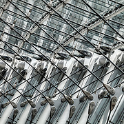 The cabling and structuring of the Kauffman Center subcontractred by Novum Structures on the south end of the Kauffman Center for the Performing Arts.