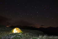Wildcamping with F10 Argon 200 tent under the stars at Hardknott