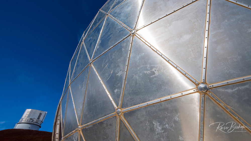 Detail of the Caltech Submillimeter Observatory on the summit on Mauna Kea, The Big Island, Hawaii USA