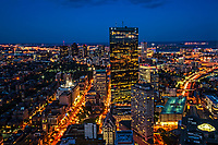 Boston Blue Hour Cityscape