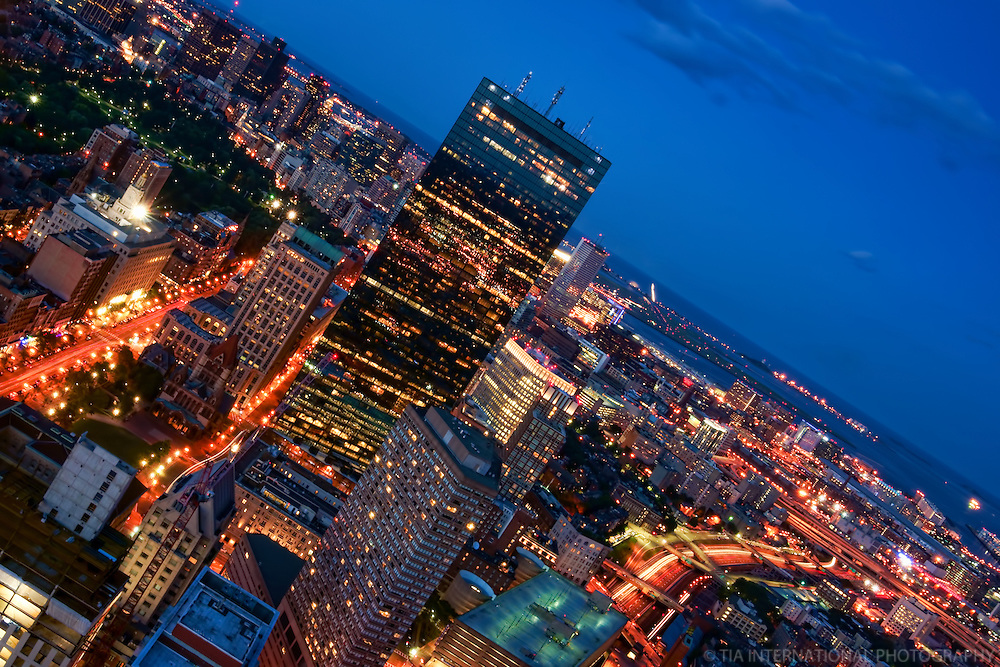 Boston Blue Hour Cityscape