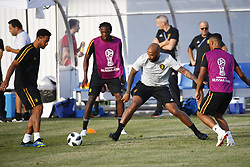 June 17, 2018 - Sochi, Russie - SOCHI, RUSSIA - JUNE 17 :   Dedryck Boyata defender of Belgium and Thierry Henry ass. coach of Belgian Team during the training session prior to the FIFA 2018 World Cup Russia group G phase match between Belgium and Panama at the Fisht Stadium on June 17, 2018 in Sochi, Russia, 17/06/2018 (Credit Image: © Panoramic via ZUMA Press)