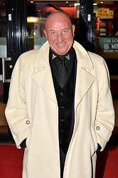London gangster Dave Courtney arrives on the red carpet for the film premiere of 'Full English Breakfast' that he stars in, at The Prince Charles Cinema, London, UK.<br /> Tuesday, 25th March 2014. Picture by Ben Stevens / i-Images