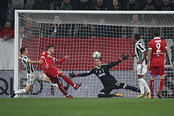 October 25, 2017 - Turin, Italy - SPAL forward Alberto Paloschi (43) hits the pole during the Serie A football match n.10 JUVENTUS - SPAL on 25/10/2017 at the Allianz Stadium in Turin, Italy. (Credit Image: © Matteo Bottanelli/NurPhoto via ZUMA Press)
