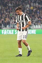 October 25, 2017 - Turin, Italy - Paulo Dybala (Juventus FC) celebrates after scoring during the Serie A football match between Juventus FC and S.P.A.L. 2013 on 25 October 2017 at Allianz Stadium in Turin, Italy. (Credit Image: © Massimiliano Ferraro/NurPhoto via ZUMA Press)