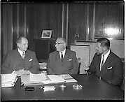 .19/01/1960.01/19/1960.19 January 1960.American businessmen visit Minister Jack Lynch..Minister for Industry and Commerce Jack Lynch with Cyril Magnin, President of Joseph Magnin Inc San Fransisco, one of California's leading businessmen and W.H. Walsh, General Manager C.T.T. at the Department of Industry and Commerce.