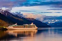 Royal Caribbean Rhapsody of the Seas cruise ship, Juneau, southeast Alaska USA
