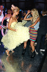 Left to right, PARIS HILTON and KIMBERLEY STEWART  at the annual Serpentine Gallery Summer Party co-hosted by Jimmy Choo shoes held at the Serpentine Gallery, Kensington Gardens, London on 30th June 2005.<br /><br />NON EXCLUSIVE - WORLD RIGHTS